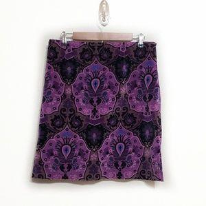 Harold's | Velvet Paisley Skirt